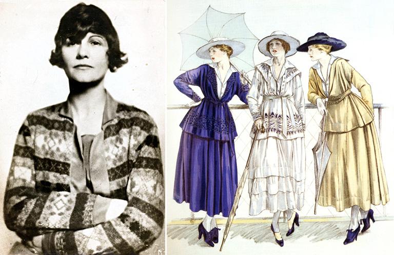Gabrielle Chanel és az első ruhái egy divatmagazinban az 1910-es években