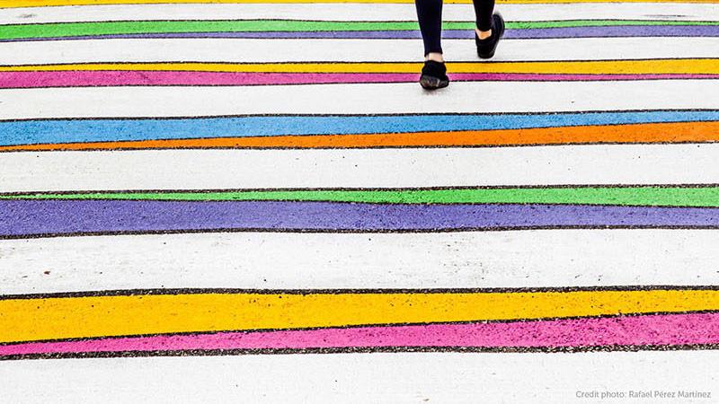 Színesre festette a zebrákat egy madridi művész - varázslatos fotók