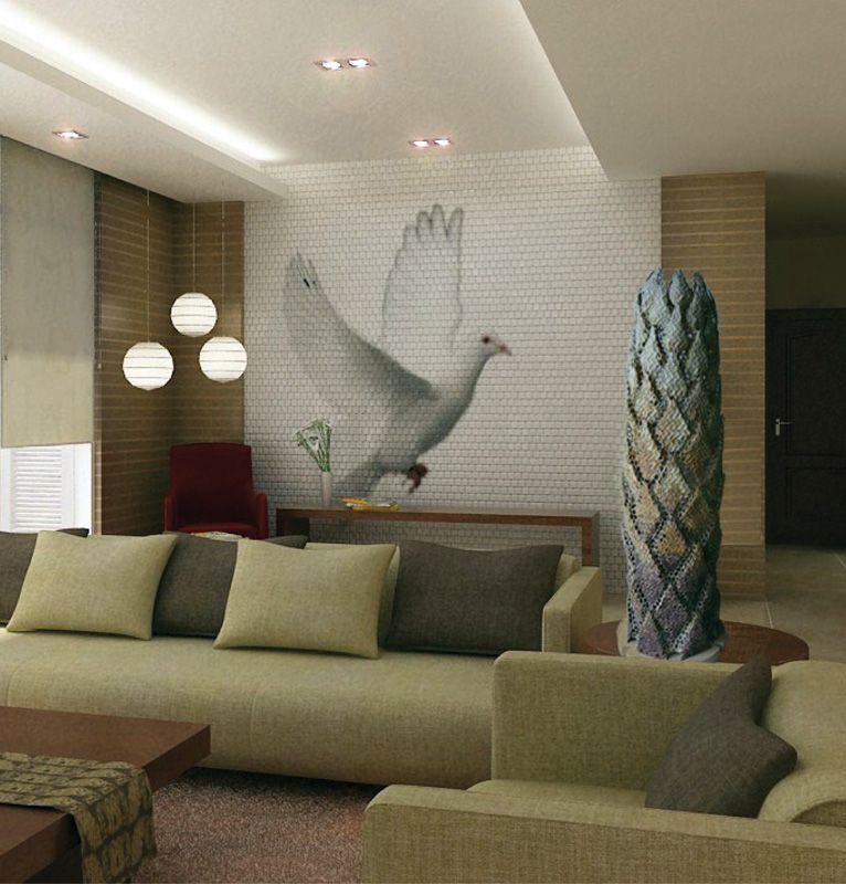 Rombuszlámpa egy modern lakás központi eleme lehet.