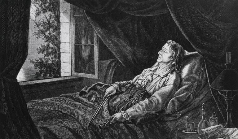 Niccolo Paganini halálos ágyán (Fotó: Getty Images)
