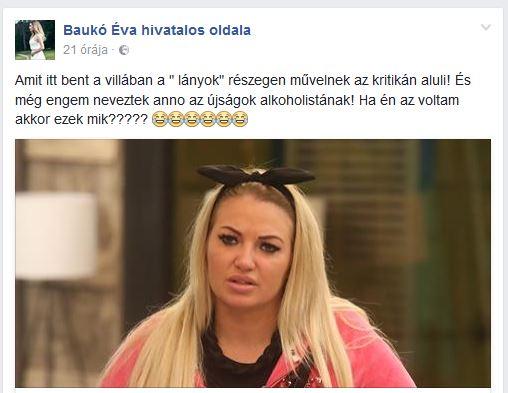Baukó Éva durván kiakadt a villalakók viselkedésén