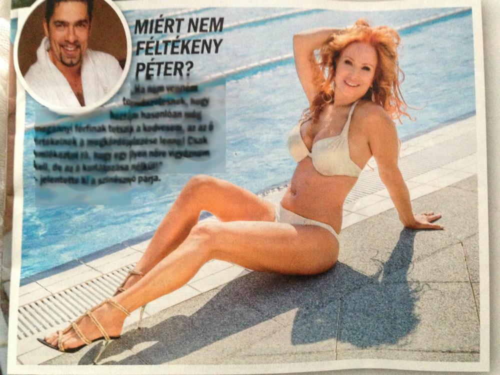 Dögös az 52 éves Détár Enikő bikinis címlapja