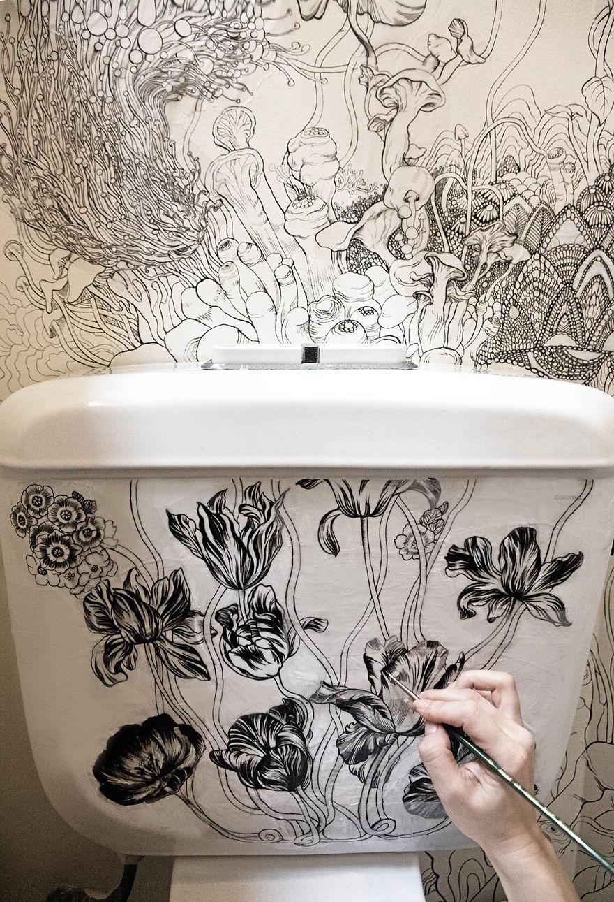Így varázsolta a designer a WC-jét egy egészen mágikus hellyé