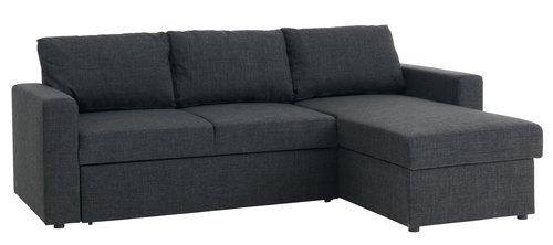L-alakú kanapé, Jysk 159.900 forint Kicsit borsosabb az ára, mint az L-alakú piros változaté, de a kivitelezése is profibb, a fekete huzat ráadásul jobban bírja a koszt, ami kisgyerekeseknél vagy álla