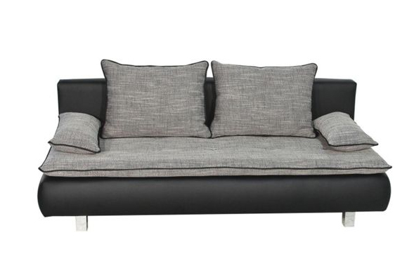 Textilbőr kanapé, Mömax 99.990 forint A bőrkanapéknál jóval olcsóbb ez a textilből és textilbőrből készült, kinyitható modell.