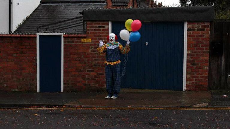 A jelenség már Európába is átterjedt: ezt a bohócot Northamptonban fotózták (Fotó: Tumblr)