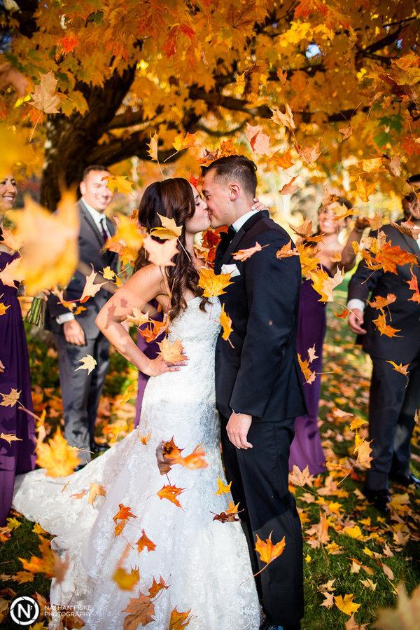 Csodaszép őszi esküvői fotók