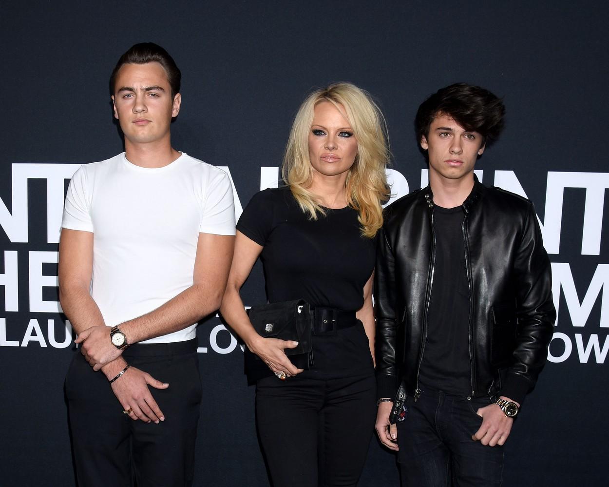Brandon Thomas Lee, Pamela Anderson és Dylan Jagger Lee (Fotó: Profimedia)