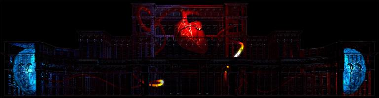 A szív és az agy - az érzelmek és a racionalitás (Kép: Limelight Projection Mapping)