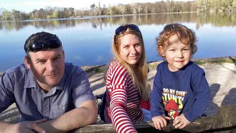 Laci, Kriszti és a nagyobbik fiú Krisztián