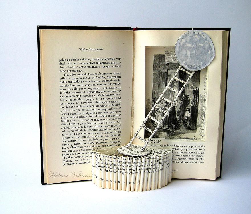 Ezek a mesebeli könyvszobrok új életet adnak a megunt könyveknek