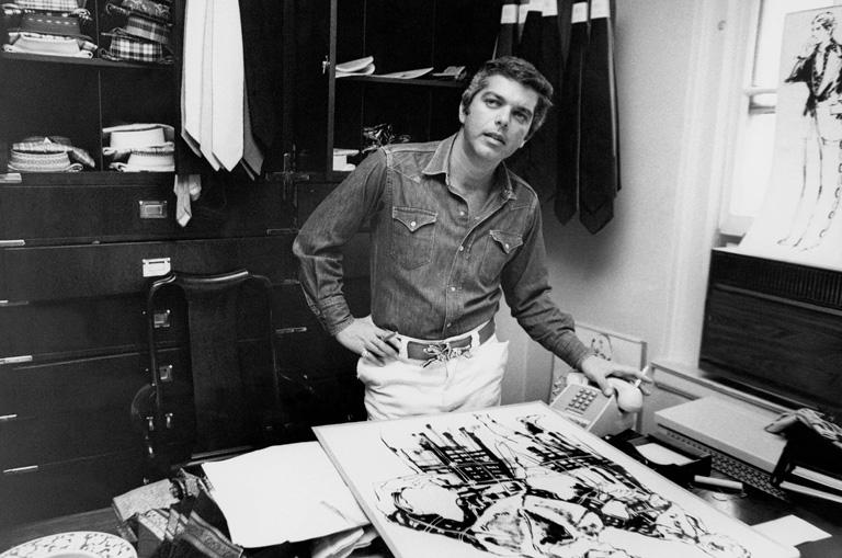 Ralph Lauren az irodájában 1971-ben (Fotó: Zachary Freyman/Getty Images)