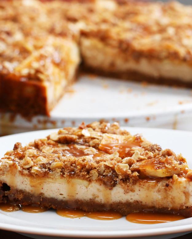 Mennyei almás-karamellás sajttorta