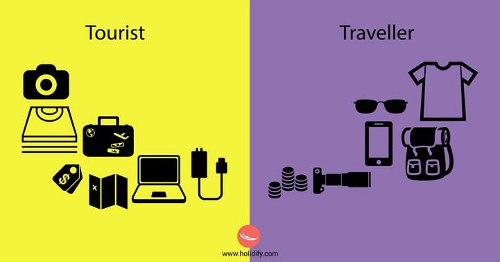 Ezek a különbségek turista és utazó között