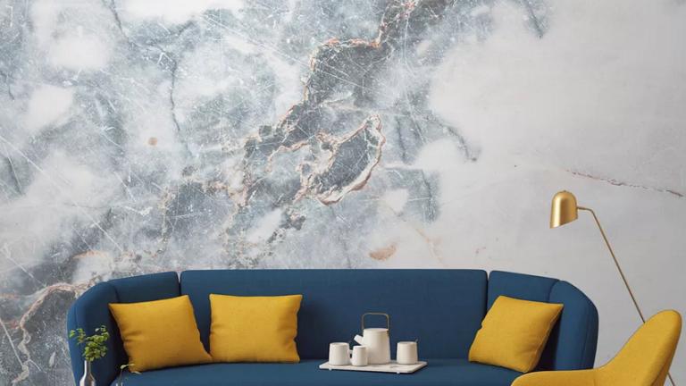 Csempéssz egy kis luxust a lakásodba lélegzetelállító, márványos tapétákkal!