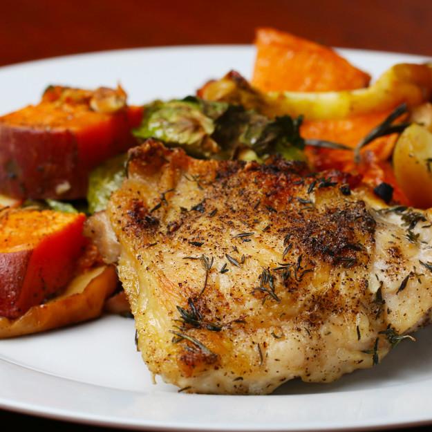 Így készítsd el a csirkét ősziesen, zöldségekkel
