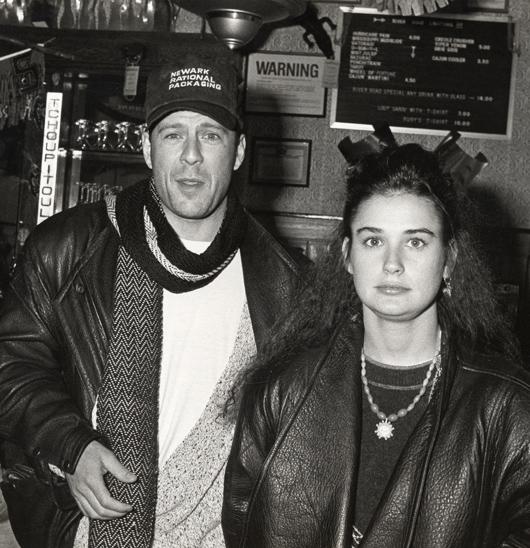 Bruce Willis és Demi Moore megismerkedésük évében (Fotó:)