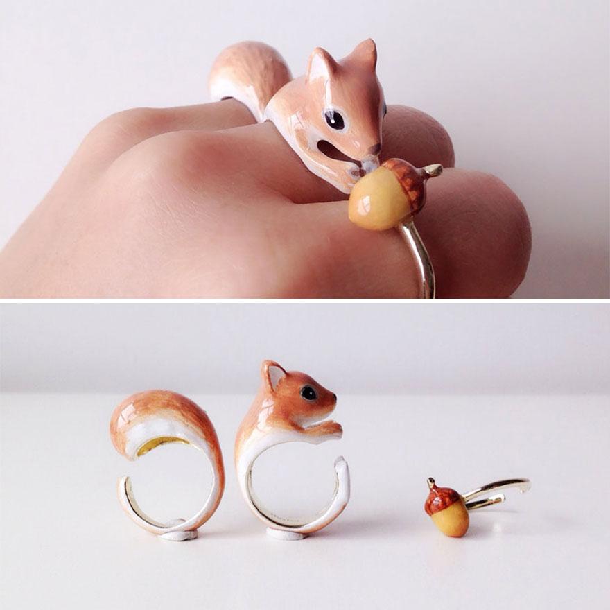 Ezek a menő állatos gyűrűk az ujjadon állnak össze