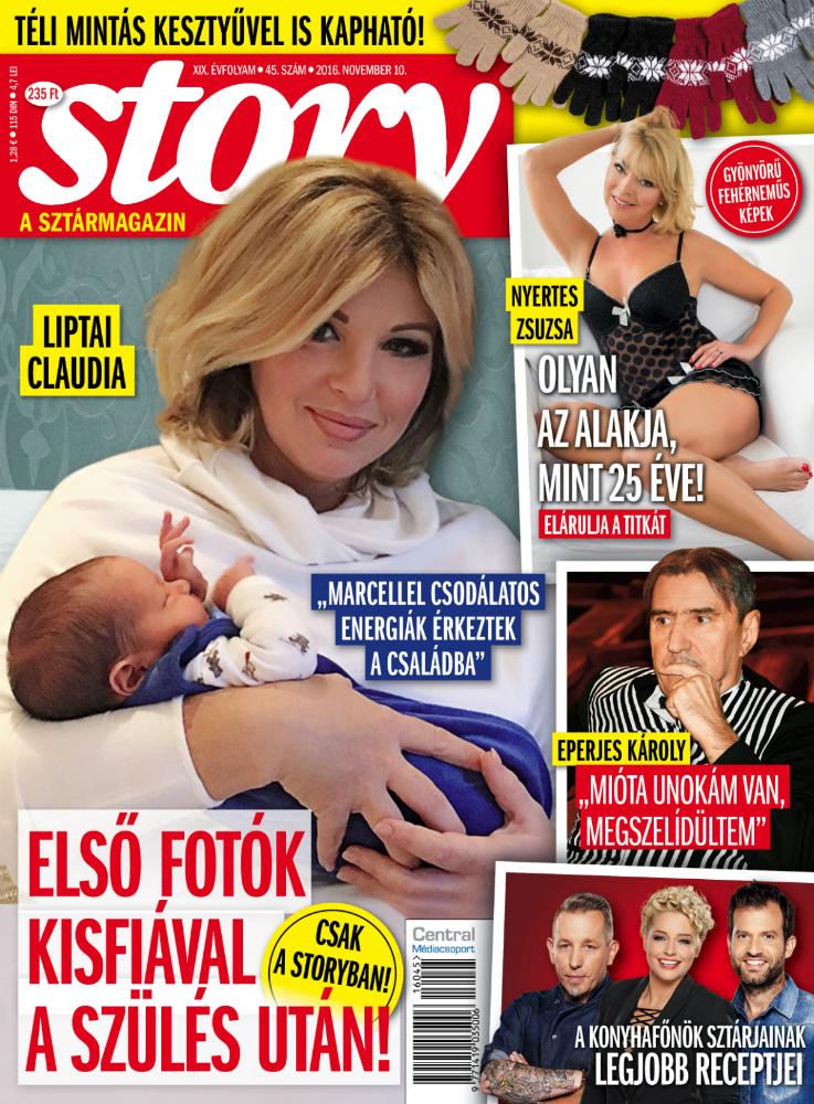 Liptai Claudia és fia első közös fotója a címlapon