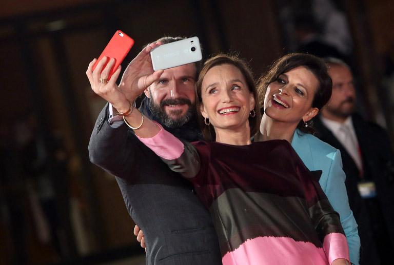 Kristin Scott Thomas, Ralph Fiennes and Juliette Binoche