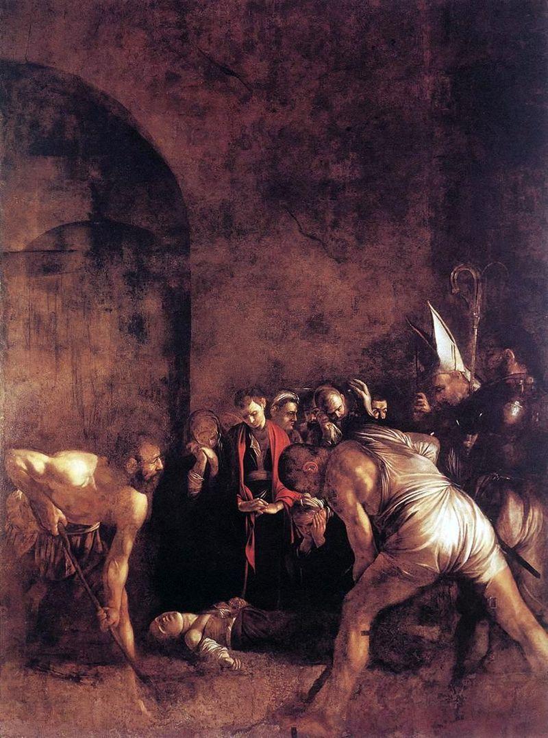 Caravaggio: Szent Lúcia temetése (forrás: Wikipedia)