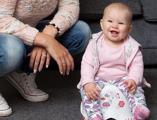 Saját magától ült bilire az öthónapos kislány