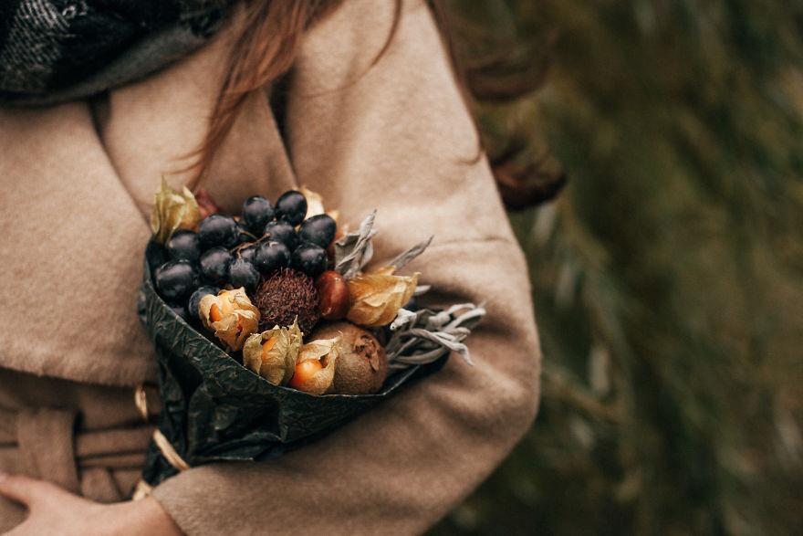 Nem mindennapi, mégis csodás csokrok zöldségekből és gyümölcsökből