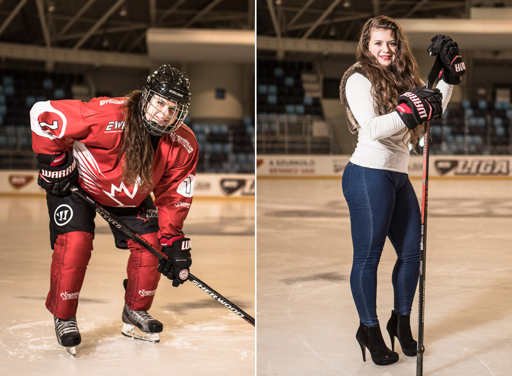 Lányok a jégen