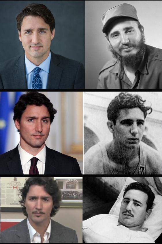 Justin Trudeau és a fiatal Fidel Castro fotói egymás mellett - hasonlít? (Fotó: Tumblr)