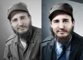 Fidel Castro és Justin Trudeau elcserélt arccal - a hasonlóság megdöbbentő (Fotó: Tumblr)