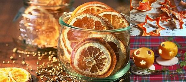 A narancsból készített díszek nemcsak esztétikusak, de isteni illatot is árasztanak.