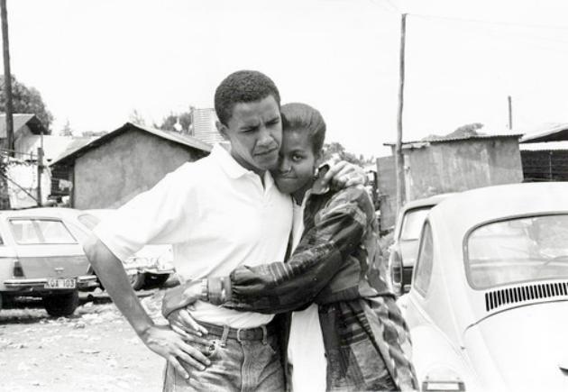 A fiatal Barack és Michelle Obama
