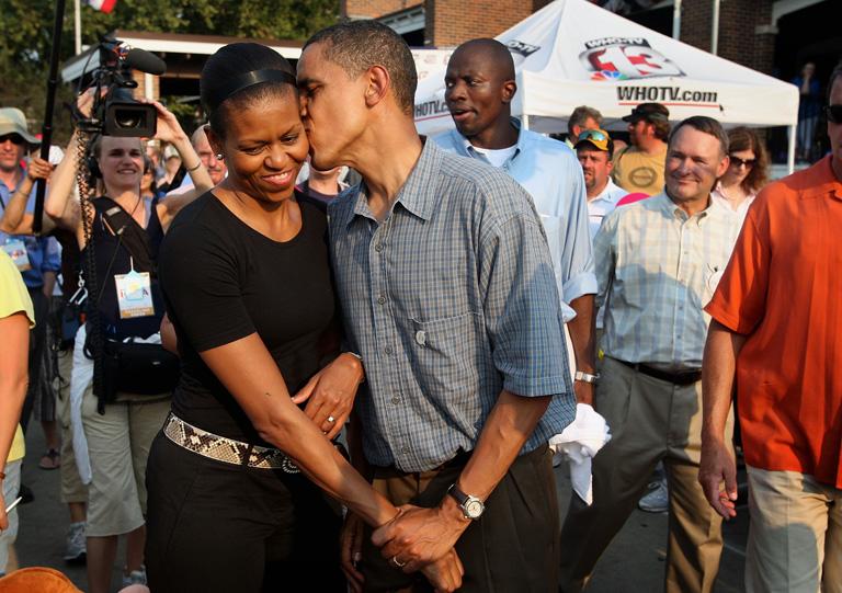 Michelle és Barack 2007-es kampánya idején