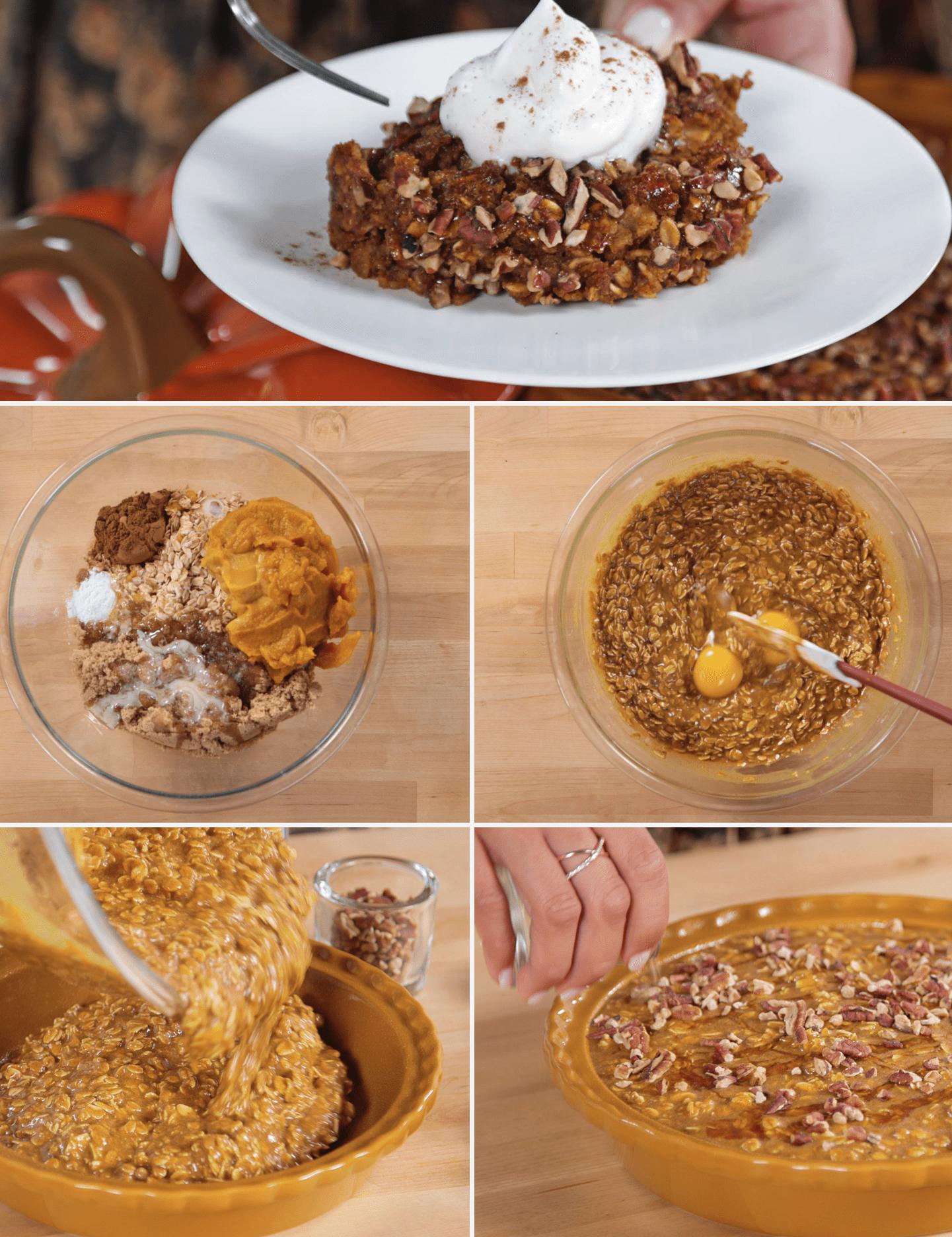 Így lesz egész estés zabkásából reggeli sütőtökpite