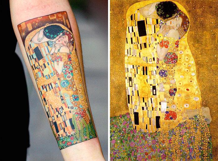 Ezek a mesteri Gustav Klimt ihlette tetoválások valóságos remekművek