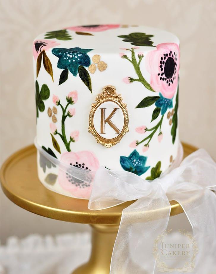 A legújabb tortatrend: vízfesték hatású dekoráció