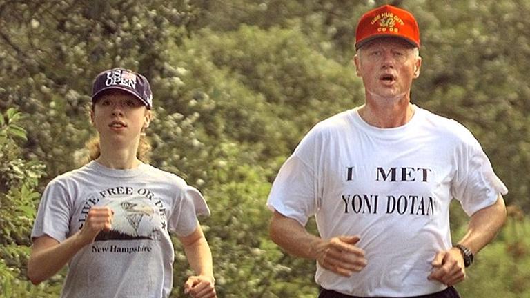 Bill Clinton és lánya, Chelsea futás közben (Fotó: Tumblr)