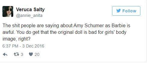 Túlsúlya miatt alázzák Amy Schumert, akit a Barbie filmre kértek fel
