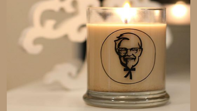 Csirke illatú gyertyát dobott piacra a KFC