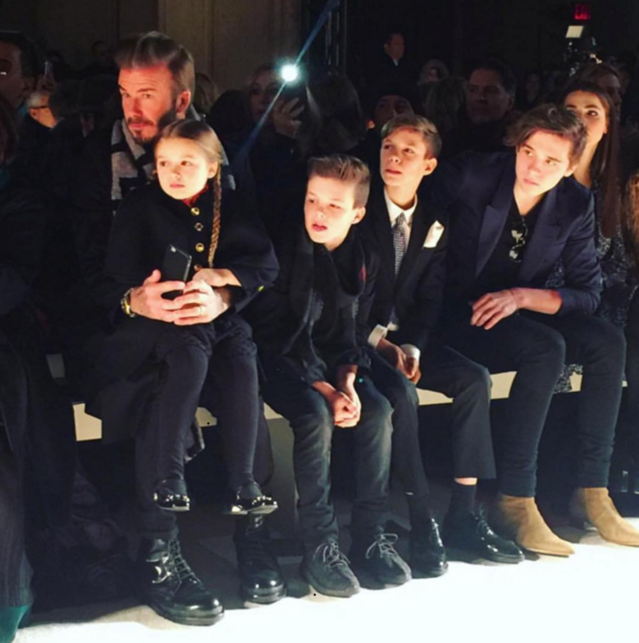 David Beckham és gyermekei