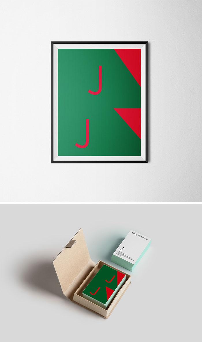 Menő, minimalista karácsonyi képeslapok a tipográfia megszállotjainak