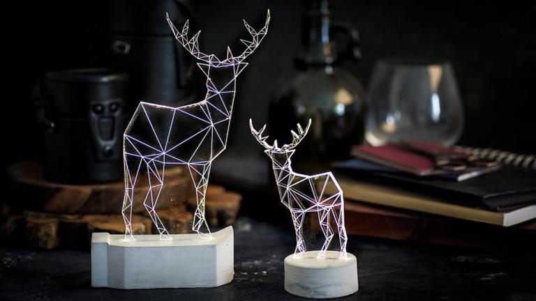 Minimalista, de nagyon látványos geometrikus lámpák