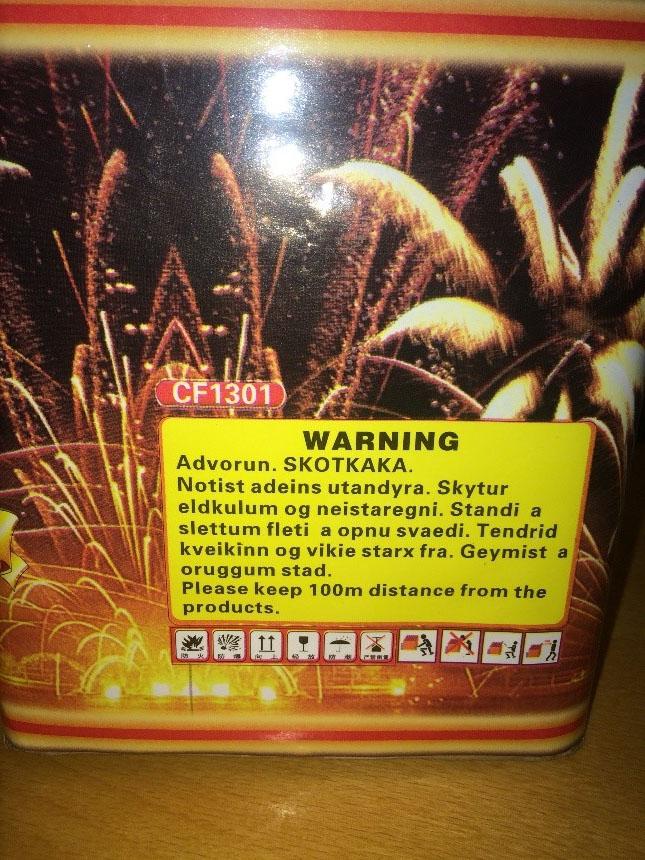 Használója ellen fordulhat a kínai tűzijáték - forrás: police.hu