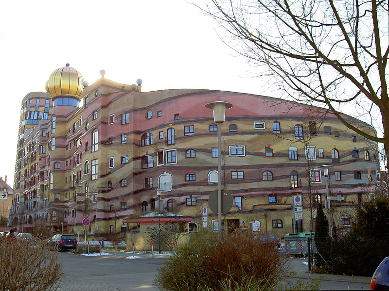 Waldspirale (erdei spirál) - lakóépület Darmstadtban
