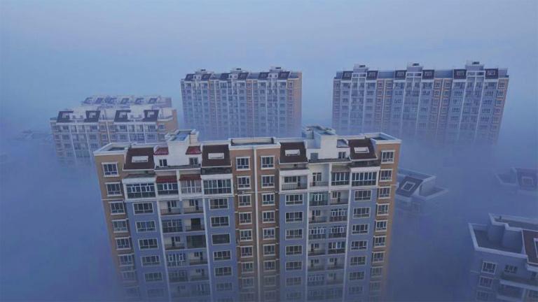 Több kínai nagyvárosban kritikus a szmoghelyzet (Fotó: Tumblr)
