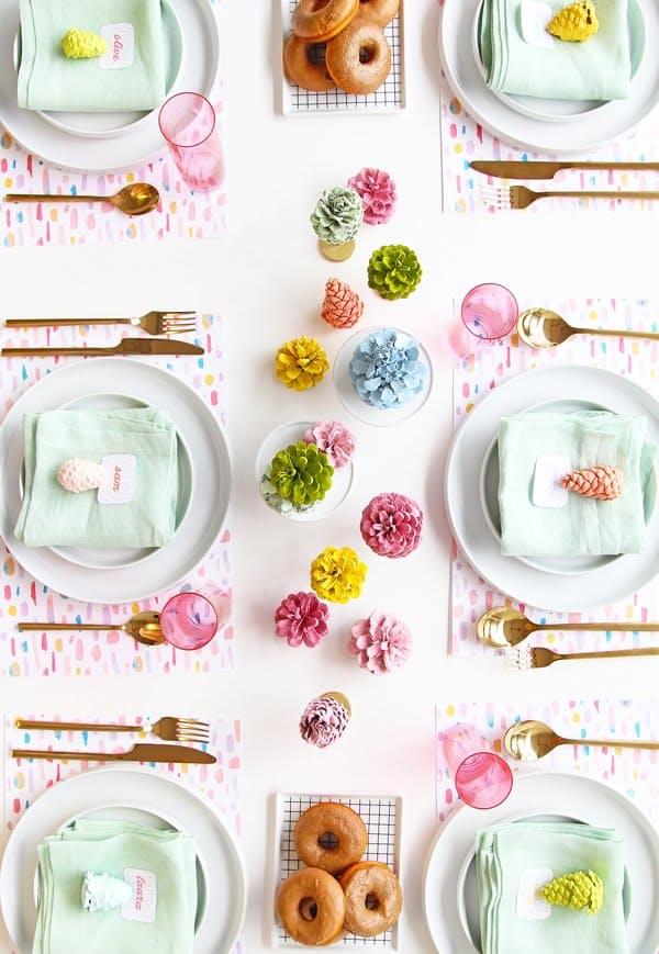 9 egyszerű karácsonyi asztaldísz az utolsó pillanatra