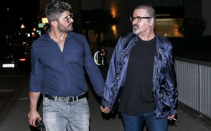 George Michael és a párja, Fadi Fawaz