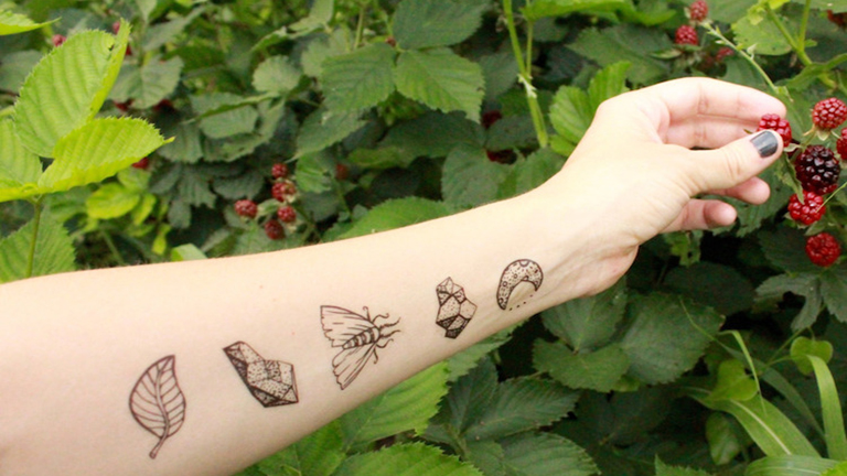 Csodaszép lemosható tetoválások a természet szerelmeseinek