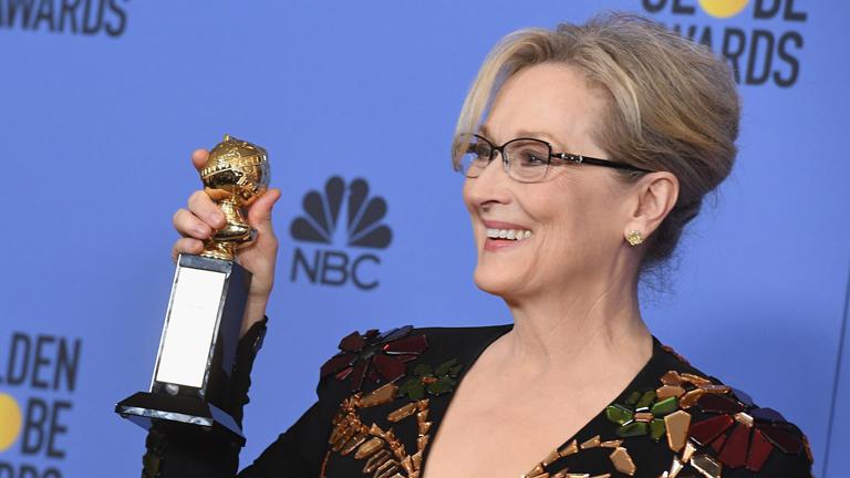 Meryl Streep a Cecil B DeMille életműdíjjal