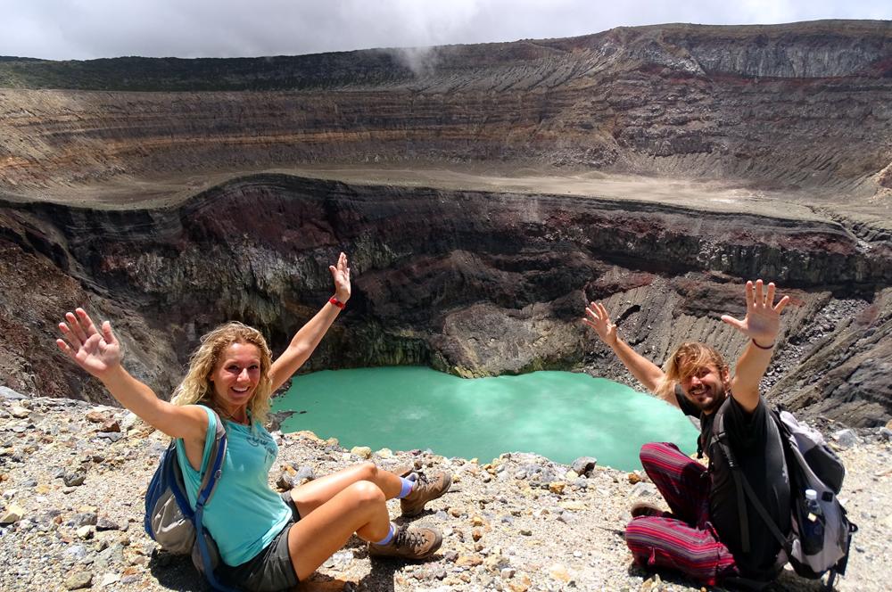 A Santa Ana-vulkán krátertavánál (El Salvador, 2015. június)
